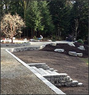Rockeries retaining walls block walls eglon landscaping for Landscaping rocks kitsap county